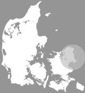 Kort over dækningsområde i Danmark